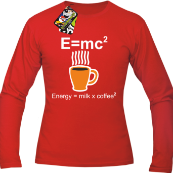 E=mc2 - energy = milk*coffee2 - longsleeve męski